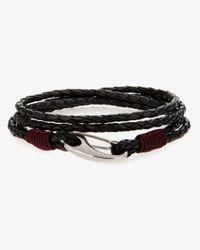 Ted Baker - Black Woven Leather Bracelet for Men - Lyst