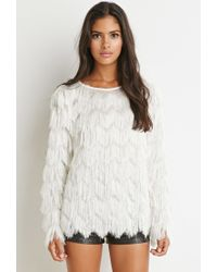 Forever 21 - White Tiered Fringe Top You've Been Added To The Waitlist - Lyst