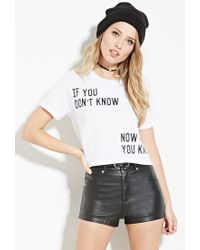 Forever 21 - White Now You Know Graphic Tee - Lyst