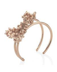 Noritamy - Metallic Rose Gold Bangle - Lyst