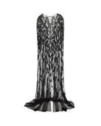 Zuhair Murad - Black Embellished Silk-blend Tulle Cape - Lyst