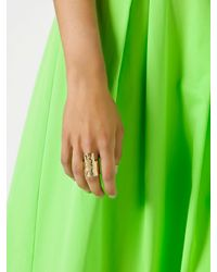 Patrizia Pepe | Metallic Costume Jewellery Band-Style Ring With Fly | Lyst
