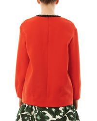 Mother Of Pearl - Orange Issik Embellished Sweater - Lyst