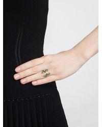 Yvonne Léon   Metallic Yvonne Léon Diamond Double Seahorse Ring   Lyst
