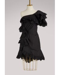Isabel Marant - Black Jiska Ruffled Dress - Lyst