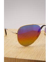 Victoria Beckham - Multicolor Loop Aviator Sunglasses - Lyst