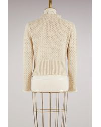 See By Chloé - Multicolor Open Knit Cropped Sweater - Lyst