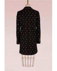 Gucci - Black Wool Long Coat - Lyst