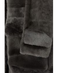 32 Paradis Sprung Freres - Gray Arctique Reversible Shearling Coat - Lyst