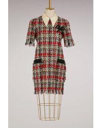 Gucci - Tweed Multicolor Dress - Lyst
