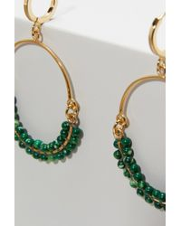 Isabel Marant - Green Earrings With Stone - Lyst