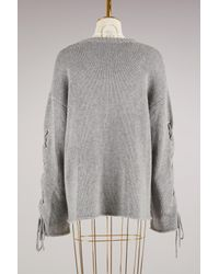 See By Chloé - Gray Knitted Sweater - Lyst