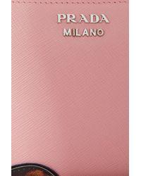 Prada - Pink Face Zip Around Wallet - Lyst