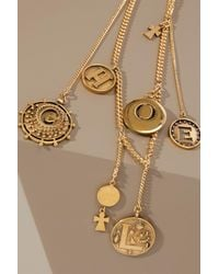 Chloé - Metallic Coins Necklace - Lyst