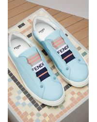 Fendi - Blue Sneakers Biscuit - Lyst