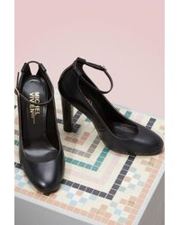 Michel Vivien - Black Natalie Leather Pumps - Lyst