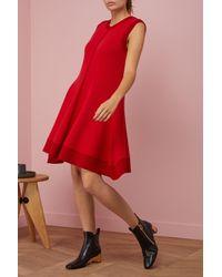 Maison Rabih Kayrouz - Red Wool Short Dress - Lyst