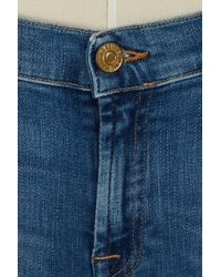 7 For All Mankind - Blue Skinny Trousers - Lyst