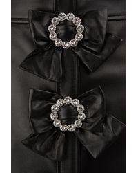Gucci - Black Plongè Leather Skirt - Lyst
