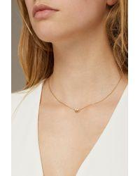 Marc Jacobs - Metallic Dipped Pretzel Pendant Necklace - Lyst