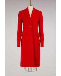 Givenchy - Red Long Coat - Lyst