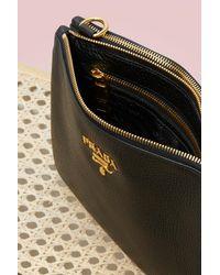 Prada - Black Bandoliera Cross-body Bag - Lyst