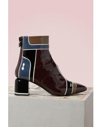 Pierre Hardy - Multicolor Varnished Heel Boots - Lyst
