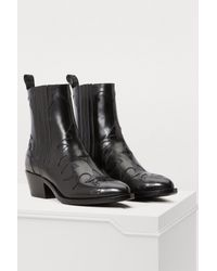 Sartore - Black Flamm Leather Ankle Boots - Lyst
