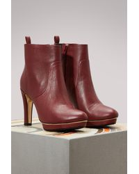 Repetto - Red Gwenole Boots With Heels - Lyst