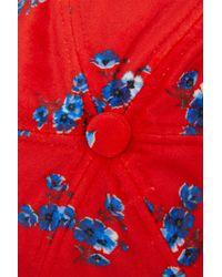 KENZO - Red Velvet May Flowers Cap - Lyst