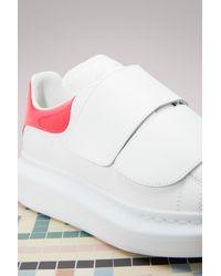 Alexander McQueen   White Hook And Loop Sneaker   Lyst