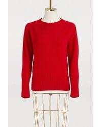 Officine Generale - Red Marie Wool Sweater - Lyst