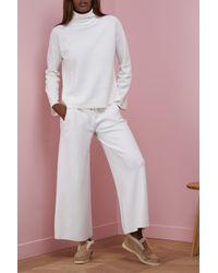 Loro Piana - White Bering Large Pants - Lyst