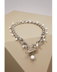 Givenchy - Metallic Pearl Necklace - Lyst