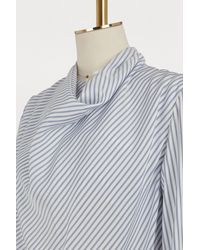 Loewe - Blue Striped Blouse - Lyst