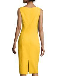 Michael Kors - Yellow Sleeveless Scoop-neck Sheath Dress - Lyst