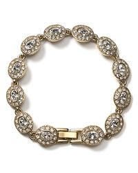 "Carolee - Metallic Champagne Toast Oval Stone Bracelet, 7"" - Lyst"