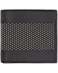 Alexander McQueen | Black Leather Studded Liliput Wallet for Men | Lyst