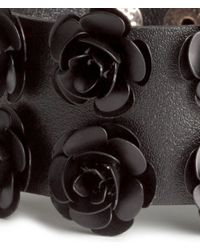 H&M | Black Bracelet With Flowers | Lyst