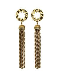 House of Harlow 1960 | Metallic Sunburst Tassel Earrings | Lyst