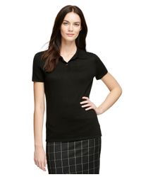 Brooks Brothers | Black Silk And Cashmere Polo | Lyst