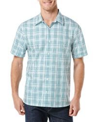 Perry Ellis - Blue Mixed Check Sportshirt for Men - Lyst