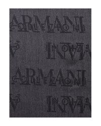 Armani | Gray Patterned Scarf for Men | Lyst