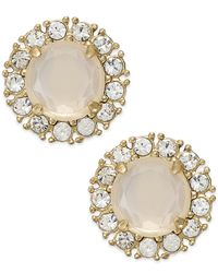 kate spade new york | White Gold-tone Stud Earrings | Lyst