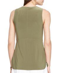 Lauren by Ralph Lauren | Green Keyhole Stretch-jersey Top | Lyst