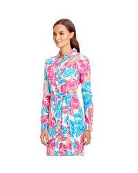 Diane von Furstenberg - Blue Prita Silk Shirt Dress - Lyst