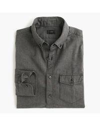 J.Crew - Gray Slim Brushed Twill Shirt In Herringbone for Men - Lyst