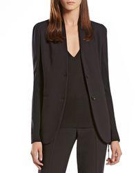 Gucci - Black Wool Knit Insert Jacket - Lyst