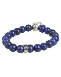 King Baby Studio   Blue Day Of The Dead Beaded Bracelet for Men   Lyst