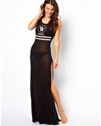Wildfox | Black The Yatch Club Beach Maxi Dress | Lyst
